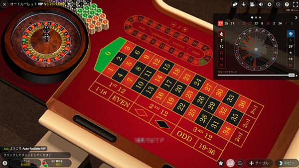 ベラジョンカジノオートルーレットVIP